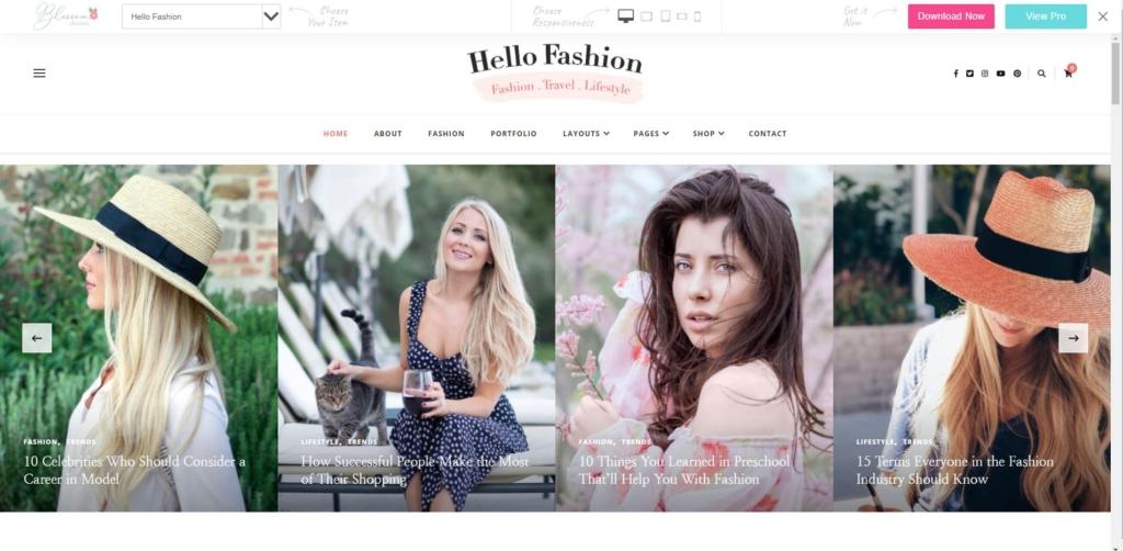Hello Fashion 1024x502 - WordPressでのポートフォリオの作り方!初心者も簡単なテーマを紹介